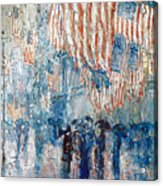 Hassam Avenue In The Rain Acrylic Print by Granger