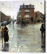 Hassam: Rainy Boston, 1885 Acrylic Print