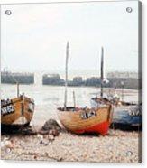 Hastings England Beached Fishing Boats Acrylic Print