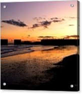 Hastings Harbour Arm At Sunset Acrylic Print