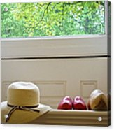 Hat And Clogs Acrylic Print