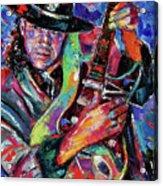 Hat And Guitar Acrylic Print by Debra Hurd