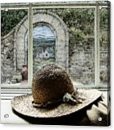 Hat In Window Acrylic Print