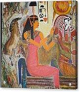 Hathor And Horus Acrylic Print by Prasenjit Dhar