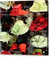 Hats In A Window Acrylic Print