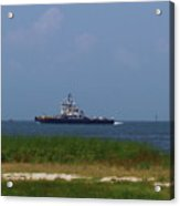 Hatteras Ferry To Ocracoke 2 Acrylic Print