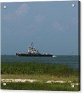 Hatteras Ferry To Ocracoke Acrylic Print