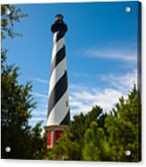 Hatteras Lighthouse Standing Guard Acrylic Print