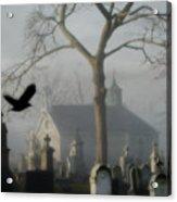 Haunted Halloween Cemetery Acrylic Print