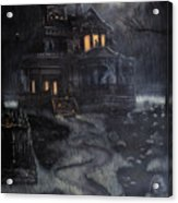 Haunted House Acrylic Print by Kayla Ascencio