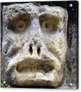 Haunted Stone Heads Acrylic Print