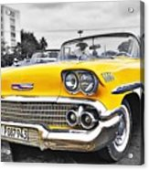 Havana Chevy Dreams  Acrylic Print