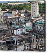 Havana Cityscape Acrylic Print