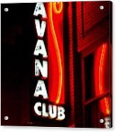 Havana Club At Night Acrylic Print