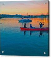 Havasu Canoe Ride At Sunrise Acrylic Print