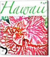 Hawaii Blush Acrylic Print