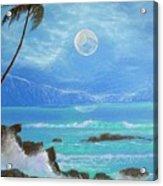 Hawaii Night Seascape Acrylic Print