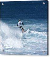 Hawaii Pipeline Surfer Acrylic Print