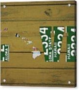 Hawaii State Love License Plate Art Phrase Acrylic Print