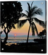 Hawaiian Big Island Sunset  Kailua Kona  Big Island  Hawaii Acrylic Print