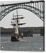 Hawaiian Chieftain In Yaquina Bay Acrylic Print