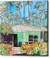 Hawaiian Cottage I Acrylic Print