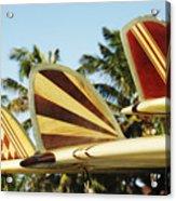Hawaiian Design Surfboards Acrylic Print