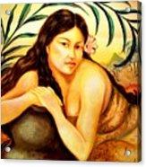 Hawaiian Girl Acrylic Print