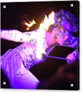Hawaiian Luau Fire Eater 2 Acrylic Print