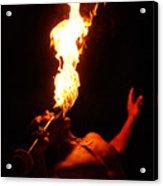 Hawaiian Luau Fire Eater Acrylic Print