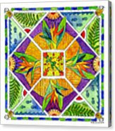Hawaiian Mandala II - Bird Of Paradise Acrylic Print