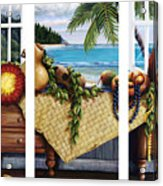 Hawaiian Still Life With Haleiwa On My Mind Acrylic Print