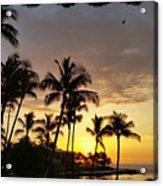 Hawaiian Sunset Design Acrylic Print