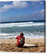 Hawaiian Surfer Acrylic Print