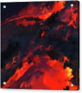 Hawaiian Volcano Lava Flow Acrylic Print