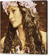 Hawaiian Wahine Acrylic Print
