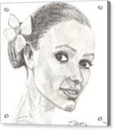 Hawaiian Woman Acrylic Print