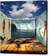 Hawaiian Zen Room Acrylic Print