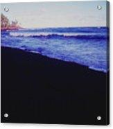 Hawaiin Black Sand Beach Acrylic Print