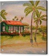 Hawaiin Cottage Acrylic Print