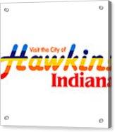 Hawkins Badge Acrylic Print