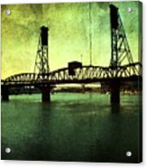 Hawthorne Bridge Acrylic Print by Cathie Tyler