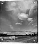 Hay Field And Barn Clarks Lake Road Acrylic Print