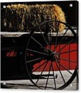 Hay On Wheels Acrylic Print