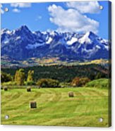 Hay With A View Acrylic Print