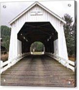 Hayden Bridge Covered Bridge Acrylic Print