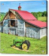 Hayesville Barn And Tractor Acrylic Print