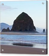Haystack At Cannon Beach In June Acrylic Print