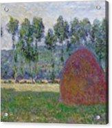 Haystack At Giverny, 1885 Acrylic Print
