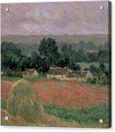 Haystack At Giverny Acrylic Print